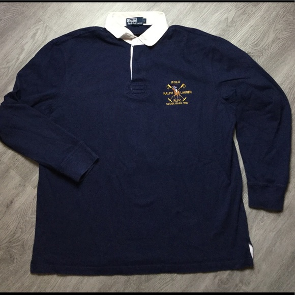 Rugby Ralph Lauren Sleeve Long Large Vtg Polo iwkTOPXZu
